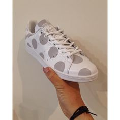 How amazing are these new polka dot Adidas Stan Smiths?! And these beauties also have a little secret...... Available now in store and online at seftonfashion.com. 6-11, £67.  #Adidas #stansmith #polkadot #polka #dot #reflective #new #newcollection #aw15 #london #islington #man #men #clothing #menswear #footwear #fashion #seftonfashion #trainers #sneakers