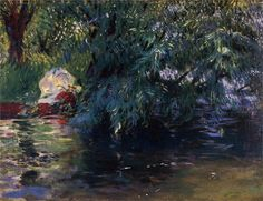 A Backwater, Calcot Mill near Reading, 1888 John Singer Sargent
