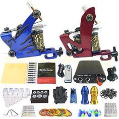 Blackseal Beginner Tattoo Kit 2 Pro Machine Guns Power Supply Needle Grips Tips ** Check out this great product. (This is an affiliate link and I receive a commission for the sales)