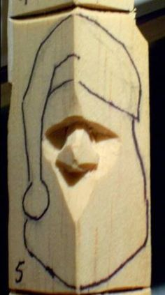 How to carve wood santa - Google Search