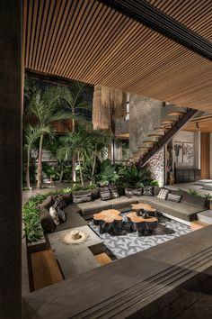 Home Room Design, Dream Home Design, Modern House Design, Home Interior Design, Interior And Exterior, Modern Tree House, Tropical House Design, Tropical Houses, My Dream Home