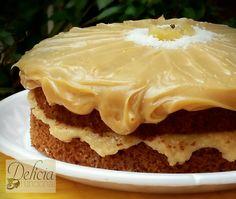 Naked Cake Funcional de Abacaxi, Côco e Baba de Moça Sem Glúten e Lactose! Sensacional!