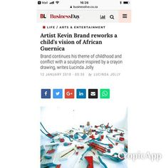 #kevin Brands upcoming exhibition in the Business Day. See previous post for details