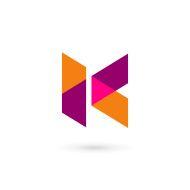 Letter K icon design template elements vector art illustration