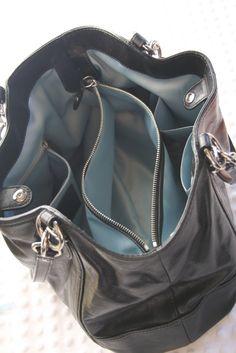 Coach purse - simply organized: a clean & organized purse + an announcement