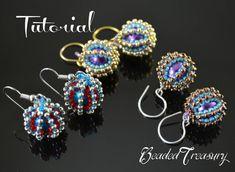 Beaded Delights  beadwoven earrings tutorial / от BeadedTreasury