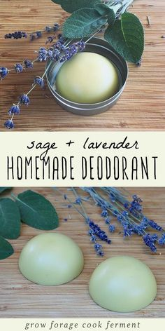 Homemade deodorant is easy to make and good for your health. This herbal deodorant recipe is made with lavender and sage, both herbs that have many beneficial properties. beauty lotion Homemade Deodorant Recipe with Lavender and Sage Lavender Recipes, Lavender Crafts, Homemade Deodorant, Home Made Deodorant Recipes, Diy Natural Deodorant, Homemade Shampoo, Natural Shampoo, Vegan Deodorant, Homemade Body Wash