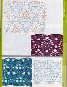 Dream and Do It Yourself Débardeurs Au Crochet, Crochet Gratis, Crochet Books, Crochet Stitches Patterns, Crochet Chart, Stitch Patterns, Knitting Patterns, Crochet Symbols, Crochet Instructions