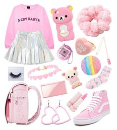 """""""Party Kei #37 ⭐️✨"""" by anniebeexoxo on Polyvore featuring Vans, Forever 21 and Nintendo"""