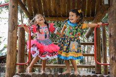 Vestido Quadrilha Infantil Bicho Brasil