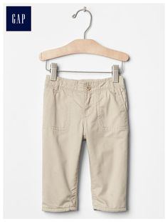 Lined pull-on khakis
