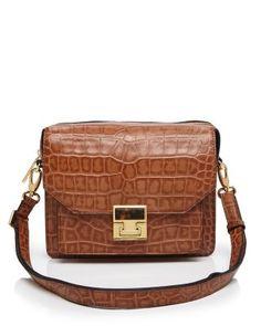 c4f2667014c4 IVANKA TRUMP Hopewell Top Zip Croc-Embossed Shoulder Bag