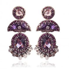 OMG! Can you see the girls with these and Lisa in clear ones or purple? THAT'S A WOW! Plum Prague Drop Earrings
