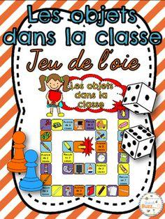 Les objets dans la classe - jeu de société pour pratiquer le vocabulaire.