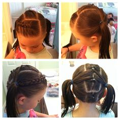 Inverted braid on top side, 3 pull thru's down middle, into piggies