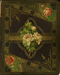 "~ Ornately Painted ""Victorian"" Book Cover ~ (19th Century)"
