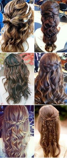 half up hairstyles, I love the ones with the braids