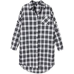Women Long Sleeve White Black Plaid Blouse ($13) ❤ liked on Polyvore featuring tops, blouses, shirts, vintage plaid shirt, long sleeve blouse, plaid shirt, long plaid shirt and print shirts