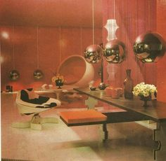 Inspirational retro futuristic living room ideas