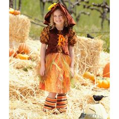 Serena the Scarecrow Complete Costume 4 Pc. Wizard of Oz MSRP $70 NEW FREE SHIP #PrincessParadise #CompleteCostume