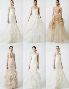Tell your designer wedding dress, and then you say Vera Wang wedding dress.