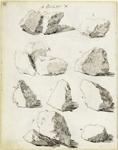 Kaspar David Fridrih: skice stena i kamenja