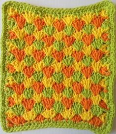 summer shells dishcloth~need to sign up to get more free patterns