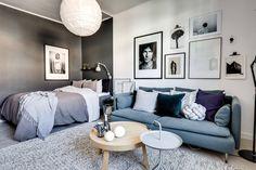 Incredible Small Living Room Interior Design Ideas For Small Living Room Design Ideas Room Design, Small Room Design, Apartment Interior, Room Interior, Home Decor, Studio Apartment Decorating, Bedroom Decor, Apartment Inspiration, Apartment Layout