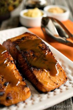 Easy Glazed Salmon - Takes just 5 ingredients to create a delicious dinner!