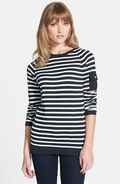 Barbour 'Lowther' Stripe Crewneck Sweater available at #Nordstrom