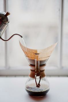 pour over coffee.