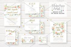 Wedding Invitation Suite - Adele by MakeApp Artist on @creativemarket