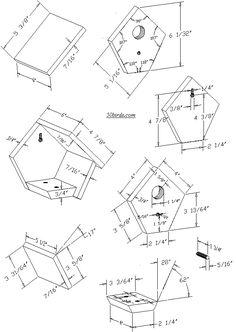 wren birdhouse plans - Google Search
