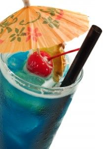Blue Hawaiian - one of the drinks in the large tubs??? Color is about right.