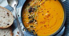 Gulrotsuppe+med+ingefær+og+hvitløk Thai Red Curry, Ethnic Recipes, Vegan, Food, Essen, Meals, Vegans, Yemek, Eten