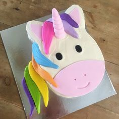 Our Rainbow Unicorn Cake Kit. Just open, bake & decorate. Includes everything you need:cake mix, precoloured fondant, disposable baketray rainbows and unicorns Easy Unicorn Cake, Rainbow Unicorn, Unicorn Cakes, Birthday Cake Girls, Unicorn Birthday Parties, Diy Birthday, Birthday Cakes, Birthday Ideas, Baby Shower Cakes