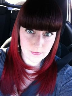 Ombre! Red hair fun.