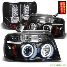 VIPMOTOZ LED Halo Ring Projector Fog Light Driving Lamp Housing Assembly For 2006-2010 Ford F-150 Pickup Truck Driver /& Passenger Side