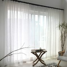 White Sheer Curtain Solid Color All-match Voile Curtain Panel Living Room Bedroo… - Curtains Gray Sheer Curtains, Voile Curtains, Curtains Living, Panel Curtains, Curtains Over Blinds, Lounge Curtains, Apartment Curtains, Living Room Blinds, Bedroom Curtains