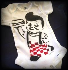 Baby Shirt Hand Painted Graffiti Art Baby Onsie by thefactory101, $18.00