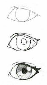 New Eye Drawing Sketches Easy Ideas Pencil Art Drawings, Art Drawings Sketches, Cartoon Drawings, Cool Drawings, Drawings Of Eyes, Funny Face Drawings, Funny Faces, Naruto Drawings Easy, Easy Manga Drawings