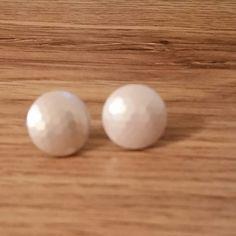 Earrings Button Vintage by AuntyMyrnesAttic on Etsy