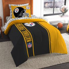The Northwest Company Pittsburgh Steelers Soft   Cozy 5-Piece Twin Bed in a  Bag 9748a8c8b