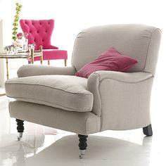 Linen chair.