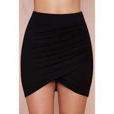 Wrapped Up Knit Skirt ($24) ❤ liked on Polyvore featuring skirts, bottoms, faldas, saia, black wrap skirt, ruched skirt, knit wrap skirt, black gathered skirt and black knee length skirt