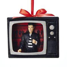 "4.125"" ELVIS JAILHOUSE ROCK TV Ornament"