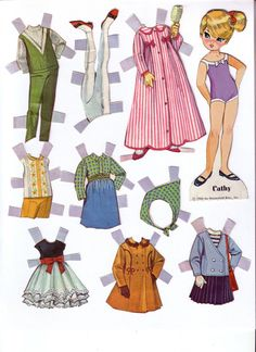(⑅ ॣ•͈ᴗ•͈ ॣ) ✄Dolly Darlings 1963 * Google for Pinterest pals1500 free paper dolls at Arielle Gabriels The International Paper Doll Society also Google free paper dolls at The China Adventures of Arielle Gabriel *