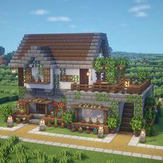 Villa Minecraft, Minecraft House Plans, Minecraft Farm, Minecraft Mansion, Minecraft Structures, Easy Minecraft Houses, Minecraft House Tutorials, Minecraft House Designs, Minecraft Construction