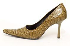 Nine West Women's Green Leather High Heels Pumps Shoes Size 6 #NineWest #Pumps #shoes #shoeaddict #shopping #fashion