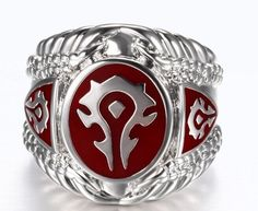 Get this WoW Horde Ring and let the world know you're a WoW fan! An iconic Horde ring for every World of Warcraft fans. In fact, you don't have to be a WoW fan to understand that this ring is great an
